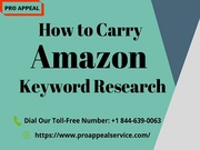 How to carry Amazon Keyword Research